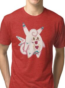 Clefable Pokemuerto | Pokemon & Day of The Dead Mashup Tri-blend T-Shirt