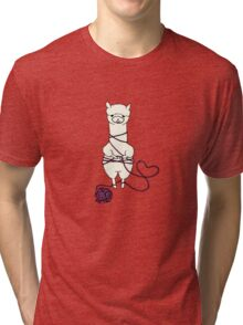 alpaca tied up Tri-blend T-Shirt