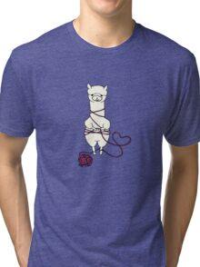 alpaca tied up Tri-blend T-Shirt