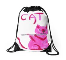 Pinky plays flute Drawstring Bag