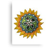 Sun Sunflower Mandala Original Print Design from Clay Canvas Print