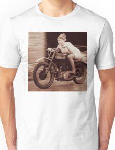Vintage Biker Girl Unisex T-Shirt