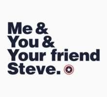 Me & You & Your friend Steve (Captain America) sticker by inkgeek