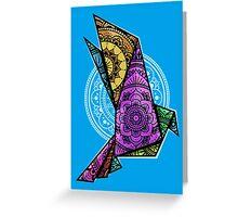 Mandala Bird Chromatic Greeting Card