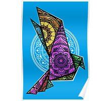 Mandala Bird Chromatic Poster