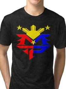 Manny Pacquiao Pac-Man Boxing Champion Tri-blend T-Shirt