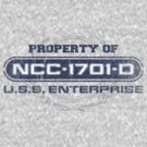 Property Of USS Enterprise D by justinglen75
