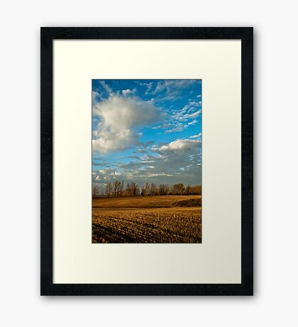 Isolated Showers Framed Print