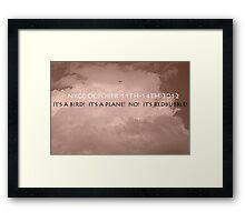 CONTEST Framed Print