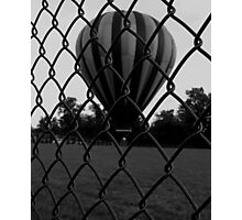 Fenced In (black and white) Photographic Print