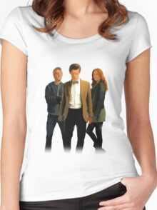The Doctor and The Ponds Women's Fitted Scoop T-Shirt
