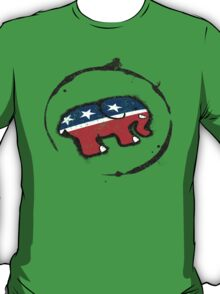 Republican Elephant Grunge T-Shirt
