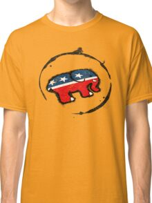 Republican Elephant Grunge Classic T-Shirt
