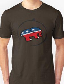 Republican Elephant Grunge Unisex T-Shirt