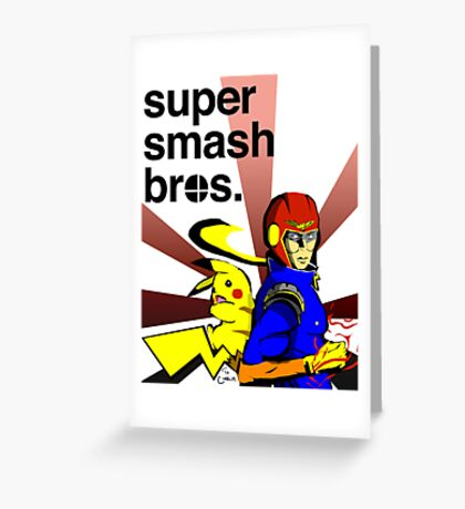 Super Smash Brothers Greeting Card