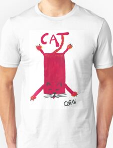 Red Rectangle Cat Unisex T-Shirt