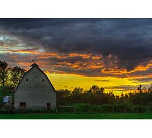 Sunset from Sultan, WA Photographic Print