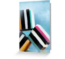 liquorice sea sculpture II Greeting Card