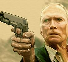 Clint Eastwood (as Walt Kowalski) by charlipadart