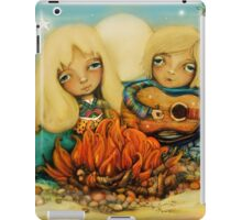 beach campfire iPad Case/Skin