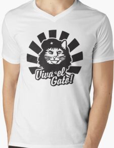 Viva el Gato Mens V-Neck T-Shirt