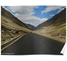 Driving on such a road is a pleasure Poster