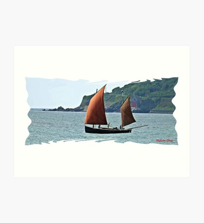 """ A Lugger leaving harbour"" Art Print"