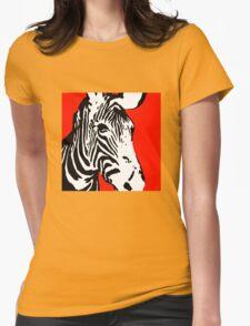 Red Zebra - Pop Art Graphic T-Shirt T-Shirt