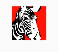 Red Zebra - Pop Art Graphic T-Shirt Womens Fitted T-Shirt
