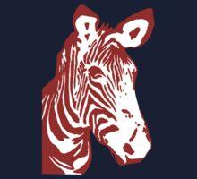 Zebra - Pop Art Graphic T-Shirt (red) Kids Clothes