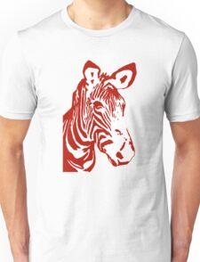 Zebra - Pop Art Graphic T-Shirt (red) Unisex T-Shirt