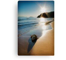 Gerakas Beach Sunset, Zakynthos, Greece Canvas Print