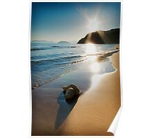 Gerakas Beach Sunset, Zakynthos, Greece Poster