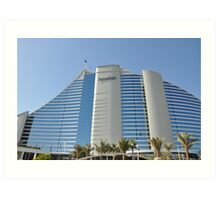 The Jumeirah Hotel in Dubai Art Print