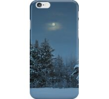 Winter Moon Shine Over Island Park iPhone Case/Skin