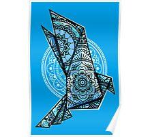 Mandala Bird Monochromatic Poster