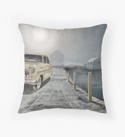 ...waitin round the bend.. Throw Pillow