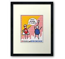 Exclamation Man goes to NYCC Framed Print