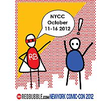 Exclamation Man goes to NYCC Photographic Print