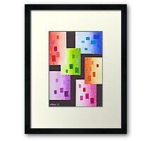 36 RECTANGLES Framed Print