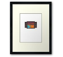 The window into my sole Framed Print