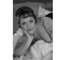 Sharon in black and white Photographic Print