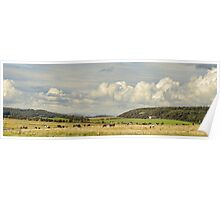 Rural Landscape Panorama, Poster