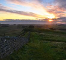 Hadrian's Wall from Hotbank Crag by Joan Thirlaway