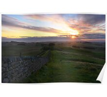 Hadrian's Wall from Hotbank Crag Poster