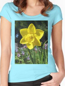 Delightful Daffodil Women's Fitted Scoop T-Shirt