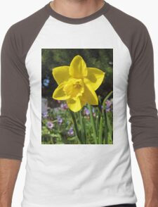 Delightful Daffodil Men's Baseball ¾ T-Shirt