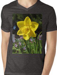 Delightful Daffodil Mens V-Neck T-Shirt