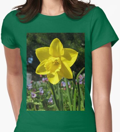 Delightful Daffodil Womens Fitted T-Shirt