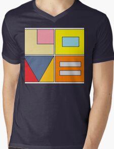 love blocks Mens V-Neck T-Shirt